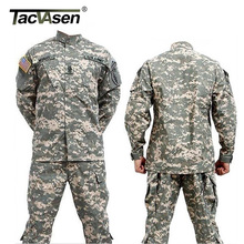 TACVASEN Men CS Paintball Suit Army Combat BDU Military Uniform Hunt Suit Wargame COAT+PANTS Set Tactical Jacket TD-JLHS-026(China)