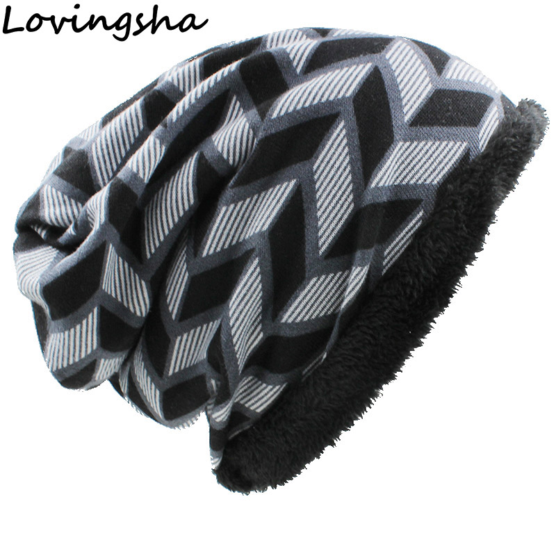 LOVINGSHA Brand Autumn Winter Vintage Design Dual-use Hats For Women Warm Ladies   Skullies     Beanies   Girl Fashion Scarf HT060