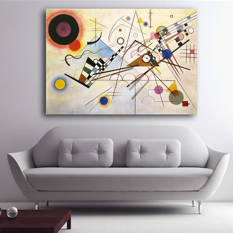 WASSILY KANDINSKY Abstrakt Konst Väggmålning Tryck och Posters - Heminredning - Foto 2
