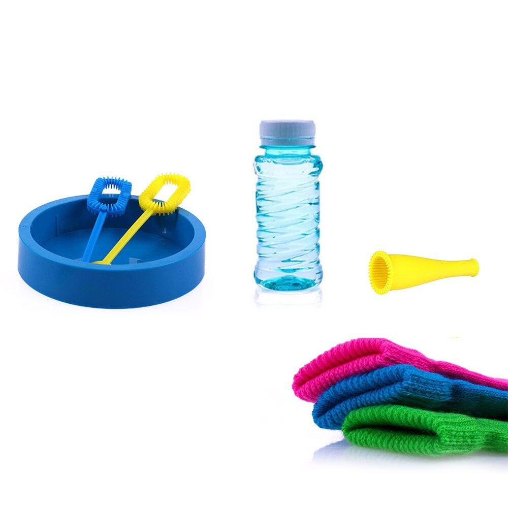 5Pcs/Set Bubble Machine Magic Bouncing Bubble Gloves Summer Outdoor Juggle Bubbles Toys