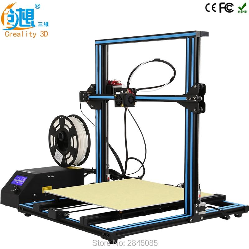 Creality 3D cr-10 большой 3D принт быстрее прогрева Высокая точность RepRap Prusa i3 3D принтер DIY комплекты с PLA нити карты ЖК-дисплей