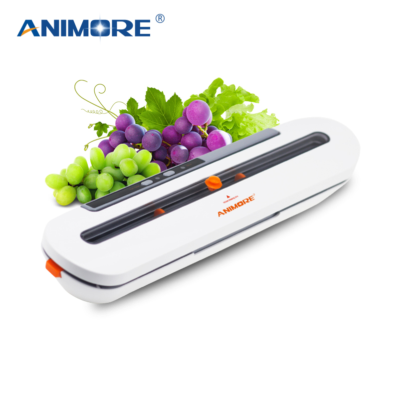 ANIMORE Food Vacuum Sealer For Food Saver 220V/110V Automatic Household Vacuum Sealer With 10pcs Vacuum Bags Sealing Machine стоимость