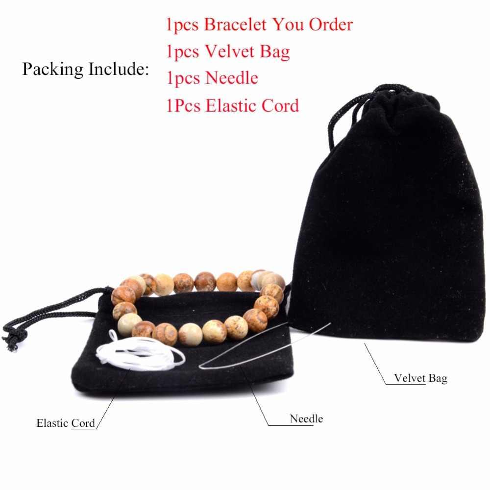 Golds Plated Fatima Hand Charm bransoletka mężczyźni bransoletki z kamienia naturalnego i bransoletki dla kobiet nadgarstek joga biżuteria hurtowych