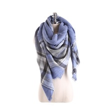 16 Color Pashmina Tartan Plaid Mix British Bandana 2016 Fashion Warm Square Scarves Women Winter Scarf Shawl Blanket Loop Cape