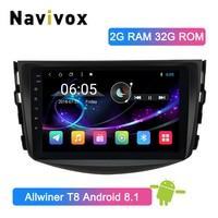 Navivox Android 8,1 Автомобильный мультимедийный плеер для Toyota RAV4 для Toyota Previa Rav 4 2007 2008 2009 2010 2011 Автомобильная dvd навигационная система лента Регистр
