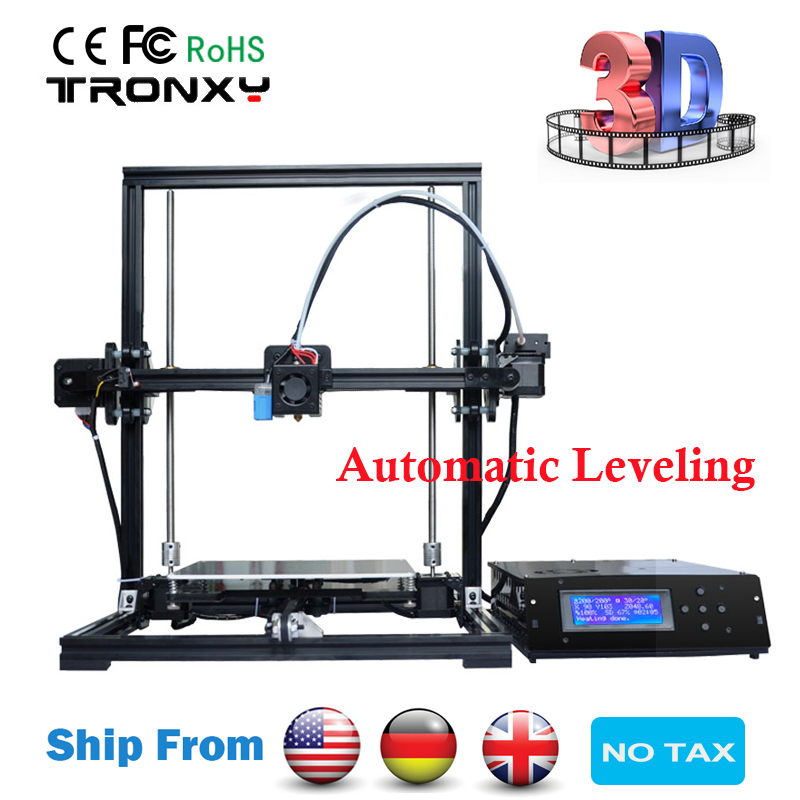 Tronxy DIY 3D Printer Auto Leveling 3D Printing 220*220*300mm Aluminium Metal Frame Reprap Stable printing Tronxy 3D Printer Kit free dhl shipping 3d printer linear guide diy kit large printing speed 20 180mm s 3d metal printer support auto leveling