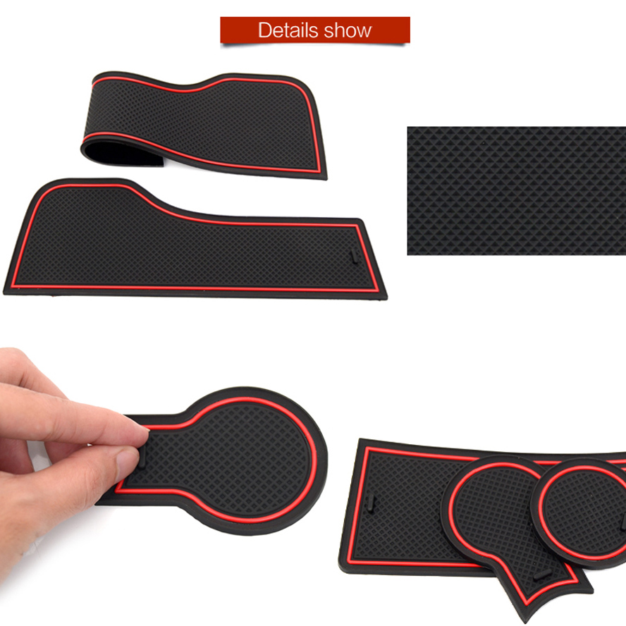 Image 4 - Anti Slip Mat For Mazda 3 BK 2003 2004 2005 2006 2007 2008 2009 MK1 MPS Gate Slot Coaster Anti Dirty Door Groove Mat 5 PCS-in Anti-Slip Mat from Automobiles & Motorcycles