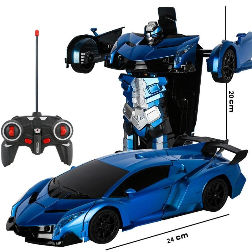 2 в 1 Электрический RC автомобиль трансформации роботы дети мальчики игрушки на открытом воздухе дистанционного Управление спортивные деформации автомобиля модели-роботы игрушка 5