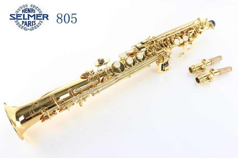 SS-R54 Aigus Coude Soprano Bb Saxophone Laque D'or Sax Soprano baisse B air instrumento musicale Saxofone