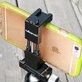 Ulanzi iron man ii aluminio trípode con zapata para el iphone móvil huawei android soporte de micrófono led adaptador de trípode