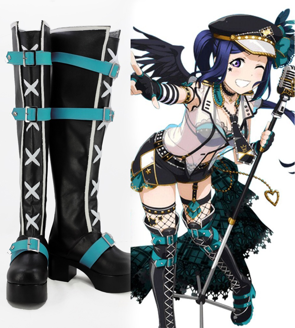 Love Live Matsuura kanan Cosplay Boots Shoes ALL Style Version punk dreamer Matsuura kanan Shoes Boots Costume accessories