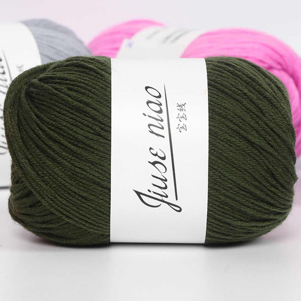50g bebé lana hilo tejer manta de ganchillo bufanda suéter tejido suave moda
