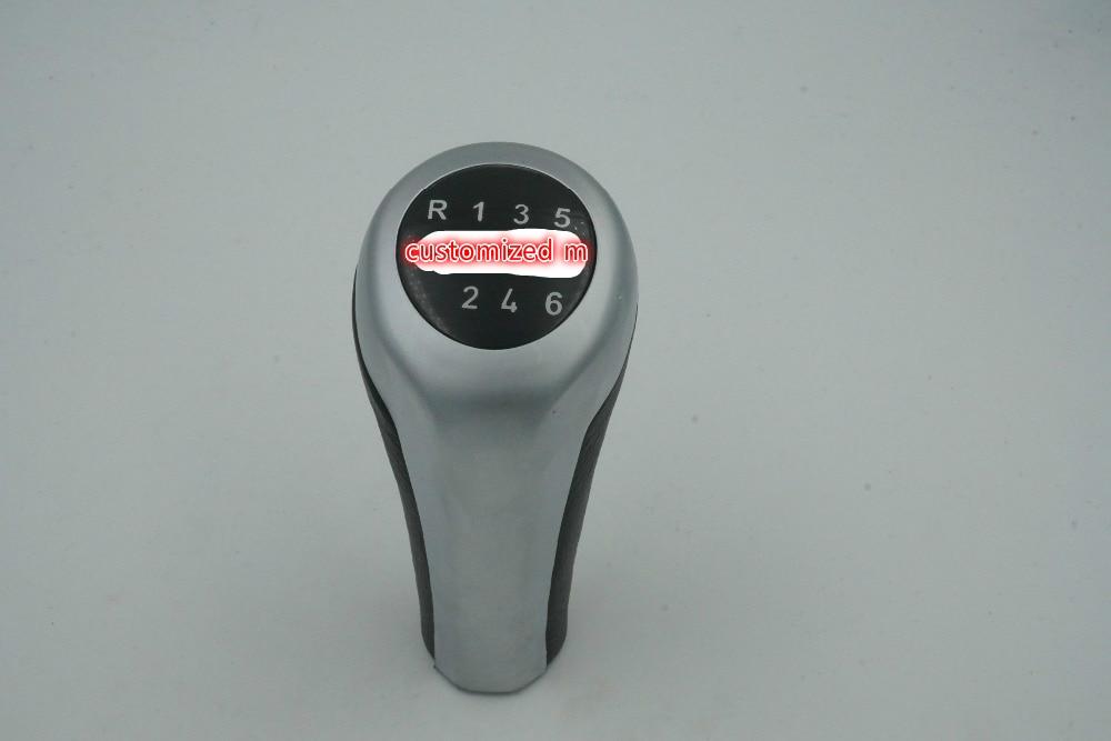 Styling 6 Speed Gear Shift Knob Chrome Silver M For BMW 1 3 5 6 Series X1 X3 X5