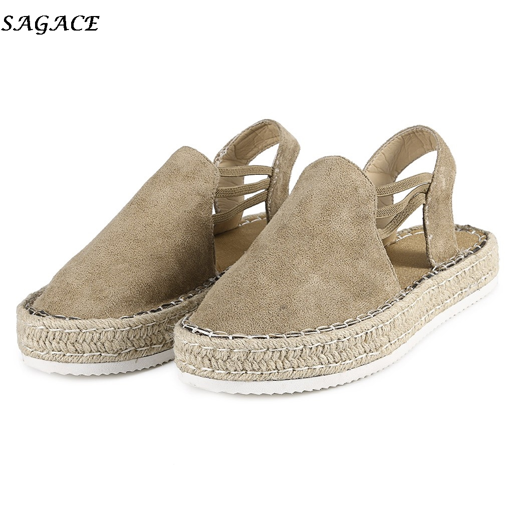 SAGACE Platform Sandals Flat-Shoes Beach-Weaving Fashion Summer Women Ladies New Mujer