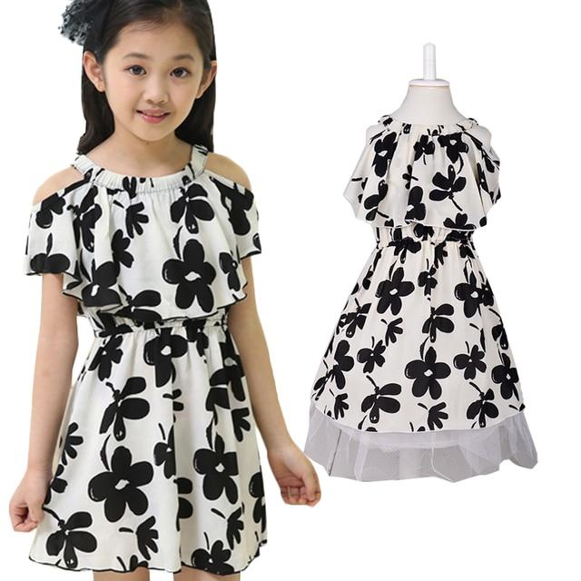 3d7f7e7c0 A-line Vestidos para Niñas algodón bohemio bebé Vestidos para el verano  impresión floral cute
