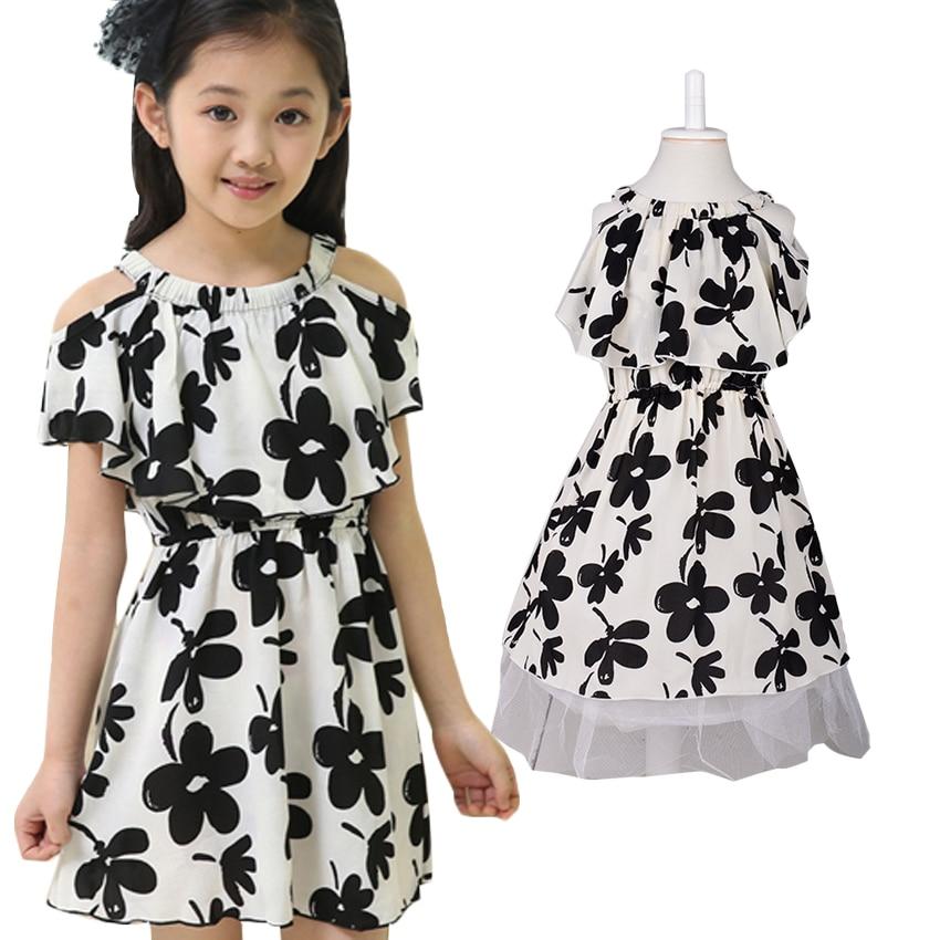 4e9158a5fa19 € 7.96 49% de DESCUENTO|Vestidos de línea a de algodón para niñas vestidos  de bebé bohemios para verano lindo estampado Floral ropa de niños ...
