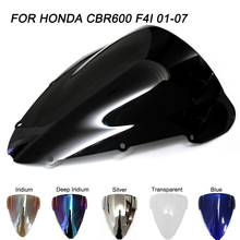 ABS Windscreen For Honda CBR600 2001-2007 Double Bubble Motorcycle CBR 600 F4i 01 02 03 04 05 06 07 Windshield Wind Deflectors все цены