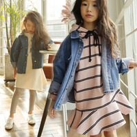 2018 New Spring Long Sleeve Clothes Kids Jeans Coats Brand Girls Coat Children Tops Coats Toddler Tops Boys Jackets,#2654