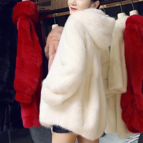 Veste Vison De Taille Z96 Plus Artificielle Manteau Femme Outwear Hiver Faux 2019 Fourrure Femmes La yqTarXT