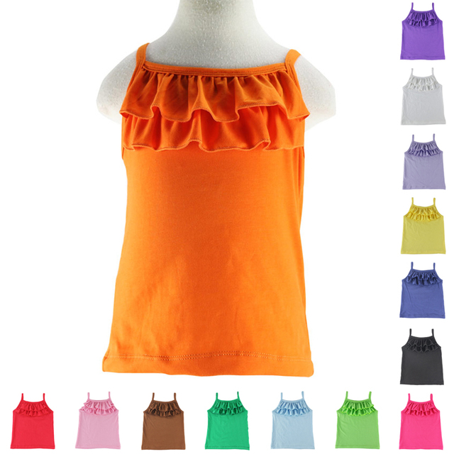 4fe9582e3069 Girls Real Tank Tops Camisole Children Summer Style Candy Colors ...