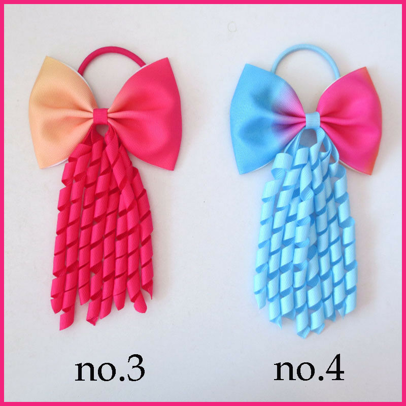 20 BLESSING Good Girl Hair Bow Corker Ponytail Streamers Elastic 98 No.