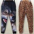 Tigre/Cão/Leopardo Moletom Moda, Outwear Inverno Calças, PLUS SIZE XL Calça dos homens, As Mulheres Calças Calças feminino Mujer Animal