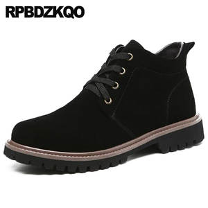 RPBDZKQO Shoes Ankle Mens Winter Boots Genuine Leather 916a4ed464