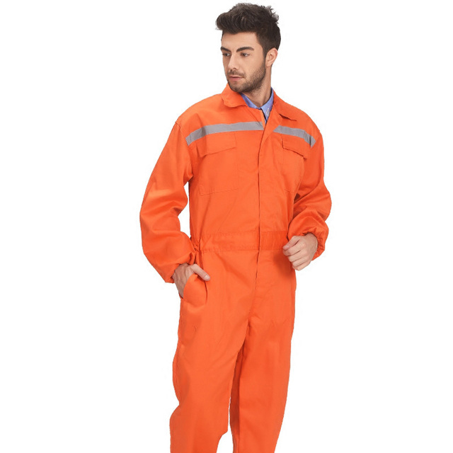 Men's poly cotton orange working coverall welding work uniforms working clothes men workwear Wholesale cheap