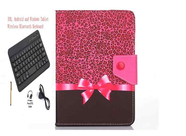 Tab E10 Keyboard Case Lenovo Tab E10 10.1 10 inch Bluetooth Keyboard cover tablet PC PU Leather Stand Case + pen +OTG+USB