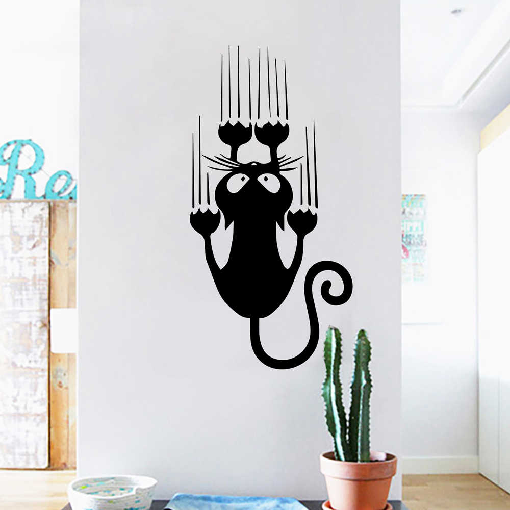 Cartoon Style Cat Vinyl Wall Stickers For Kids Room Decoration Accessories Wall Decals Art Wall Decor Stickers Mural Stickers For Home Designer Wall Stickerswall Sticker Aliexpress