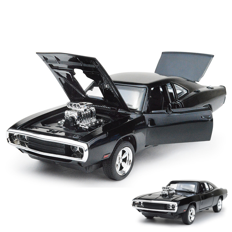Mini auto 1:32 dodge charger the fast and the furious alloy car models kids toys for children classic metal cars