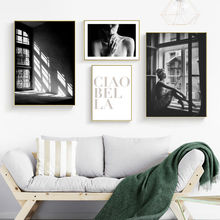 Nordic Canvas Painting Home Decor Black and White Poster Wall Art Figure Letter Love Print Bedroom Minimalist