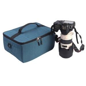 Image 2 - Su geçirmez dslr kamera Lens Çantası Ekleme Koruma Çanta Taşıma Tote Yastıklı Kılıfı Lens Kılıfı Canon Nikon Sony için