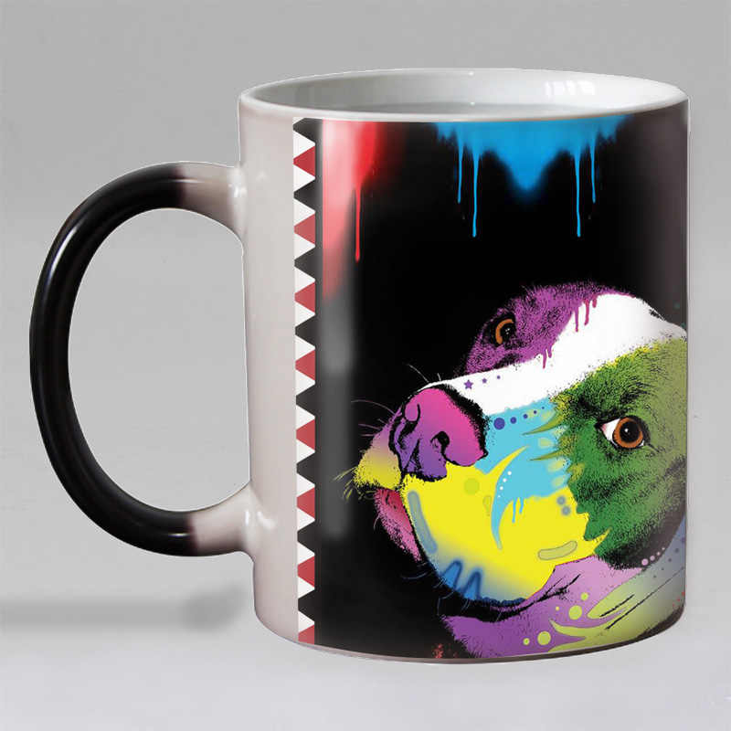 11OZ psy domowe ciepło odsłonić kubek kawy ceramiczny kolor zmiana magiczne kubki kubki na herbatę świąteczny prezent dla miłośnik psów