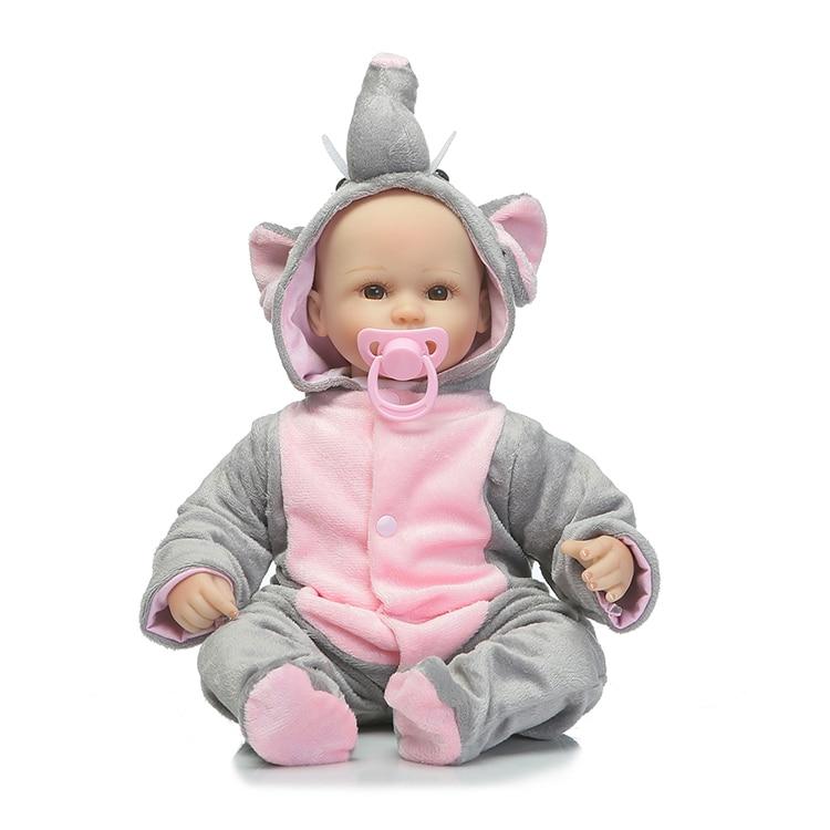 ФОТО 18'' bebe alive reborn bonecas handmade Lifelike Reborn Baby Doll Girls  cotton Body Vinyl Silicone with Pacifier child gift