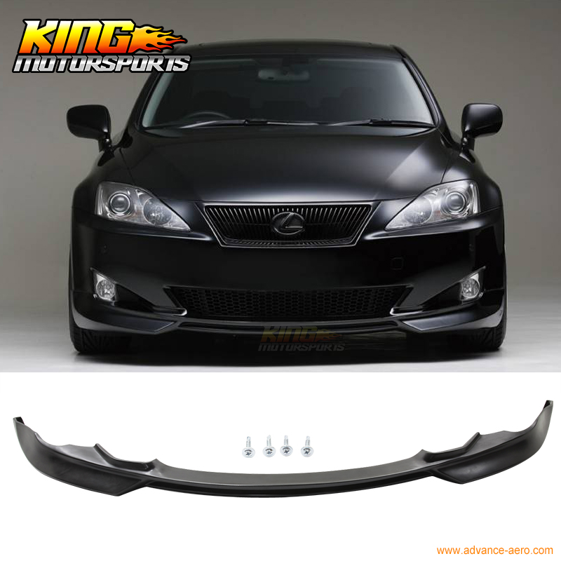 For 06 07 08 Lexus Is250 Is350 Front Bumper Lip Bodykit PU Poly UrethaneFor 06 07 08 Lexus Is250 Is350 Front Bumper Lip Bodykit PU Poly Urethane
