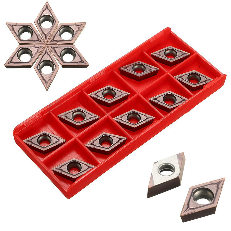 10pcs DCMT11T304 VP15TF CNC Carbide Inserts High Quality Inserts with Box For Lathe Turning Tool цена 2017