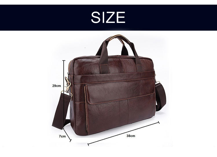 New Men Briefcase Genuine Leather Bags Handbags Office Bags for Mens  Messenger Bag Men Leather Laptop Bag Briefcases f63ee718e1