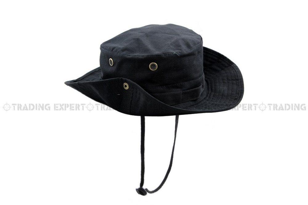 USMC Black Boonie Hat (BK) free shipping-in Men's Bucket