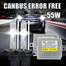 55 Вт Ксеноновые CANBUS ошибка бесплатный C5 55 Вт H1 H3 H4 H7 H8 H11 9005 HB3 9006 HB4 881 D2S 6000 К 8000 К для VW BMW Mecede Audi Hyundai автомобили