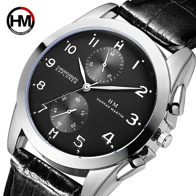 Leather Waterproof Mens Top Brand Luxury Wrist Watches