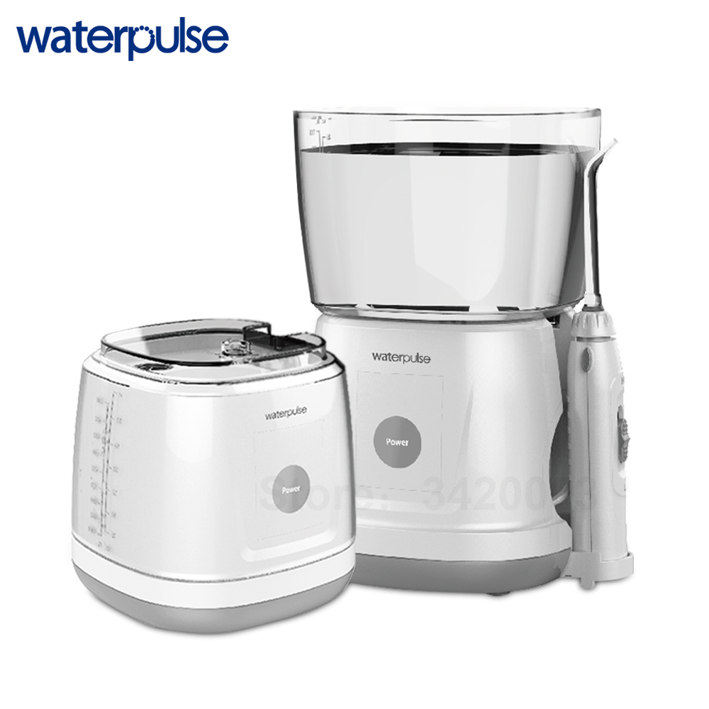 Waterpulse V700 Portable Water Flosser Touch Start Waterproof Oral Orrigator LED Touch 5 Tips Electric Household Dental Floss-in Oral Irrigators from Home Appliances