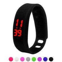Paradise 2016 Fashion Womens Mens Rubber LED Watch Date Sports Bracelet Digital Wrist Watch Free Shipping Apr09