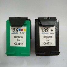 Compatible Ink Cartridges For HP 132 136 HP132 Deskjet 5420 5420V 5440 5440XI Photosmart C3100 C3110 c3125 Printer