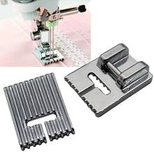 Товары для дома 5/7/9 канавками для ног для швейной машины для изготовления со складками на бретелях прижимных лапок для Janome Singer и т. д. аксессуары для швейных машин