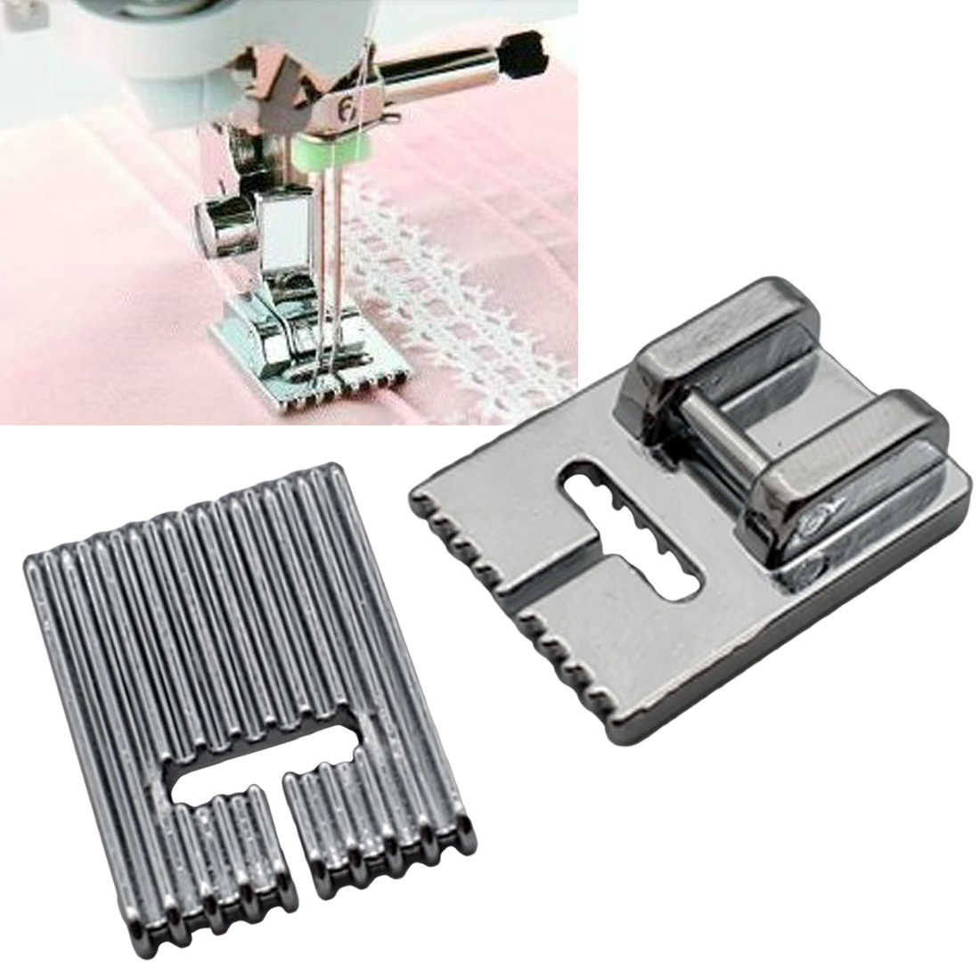 Home Supplies 5/7/9 Grooves Sewing Machine Foot Making Pleat Tank Presser Feet for Janome Singer etc Sewing Machine Accessories