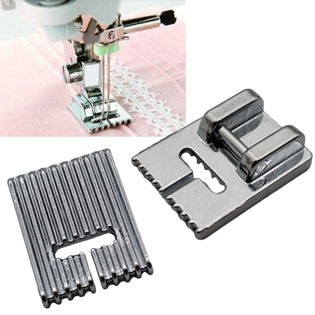 Home Supplies 5/7/9 Grooves Sewing Machine Foot Making Pleat Tank Presser Feet for Janome Singer etc Sewing Machine AccessoriesHome Supplies 5/7/9 Grooves Sewing Machine Foot Making Pleat Tank Presser Feet for Janome Singer etc Sewing Machine Accessories