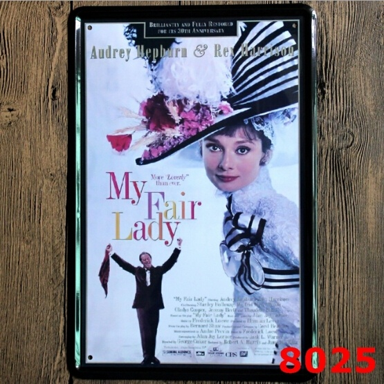 Audrey Hepburn My Fair Lady Paitting Tin Sign Bar Pub Home