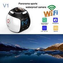 HD 4 К 360 Камера Ультра Мини Панорамная Камера WIFI 16MP 3D водонепроницаемая Камера Спорта Вождения VR Действий Камеры Действий Видео Камеры 30 м