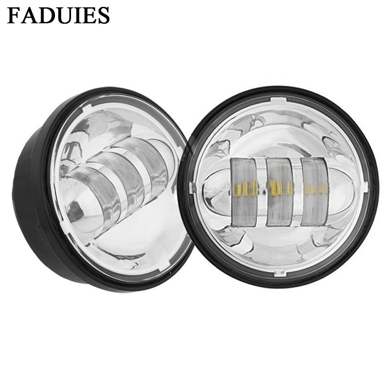 FADUIES 4.5inch Chrome LED Auxiliary Spot Fog Passing Light Lamp For bike FLHTCU Ultra Classic Electra Glide Softail Road KingFADUIES 4.5inch Chrome LED Auxiliary Spot Fog Passing Light Lamp For bike FLHTCU Ultra Classic Electra Glide Softail Road King
